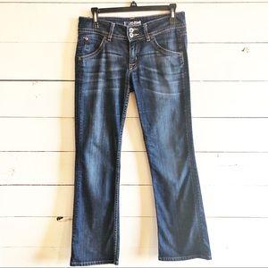 Hudson Mid Rise Bootcut Jeans Sz 27